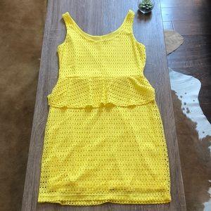 Yellow cocktail dress